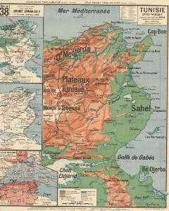 Tunisie carte physique