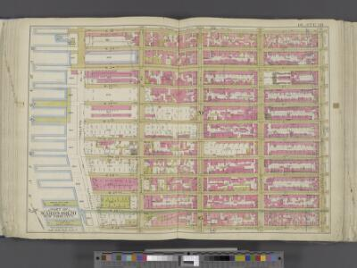 Manhattan, Double Page Plate No. 18 [Map bounded by W. 36th St., 8th Ave., W. 25th St., Hudson River]