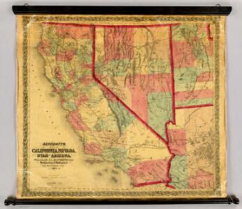Bancroft's Map Of California, Nevada, Utah And Arizona.