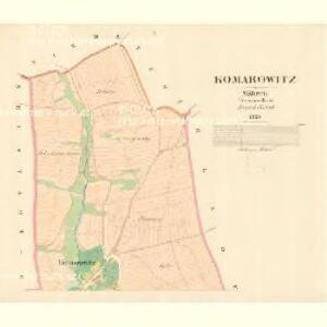 Komarowitz - m1257-1-001 - Kaiserpflichtexemplar der Landkarten des stabilen Katasters