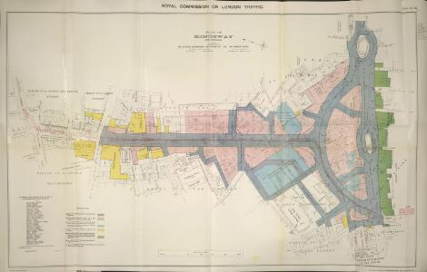 Plan of Kingsway, From Report of the Royal Commission on cross-river traffic in London, Plate XVIII