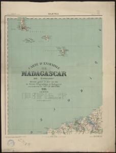 Carte d'ensemble de Madagascar. Majunga