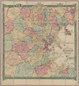 Map of the city and vicinity of Boston, Massachusetts : from original surveys