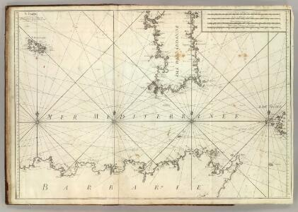 Carte De La Mer Mediterranee.  V.