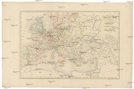 Uebersichts-Karte für die Geschichte von der Reformation bis zum westphälischen Frieden