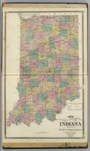 New sectional and township map of Indiana.