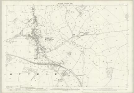 Essex (1st Ed/Rev 1862-96) XXIV.13 (includes: Great Dunmow) - 25 Inch Map