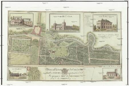 Plan du chateau et de l'enclos du pavillon d'Heverlé appartenant a S. A. S