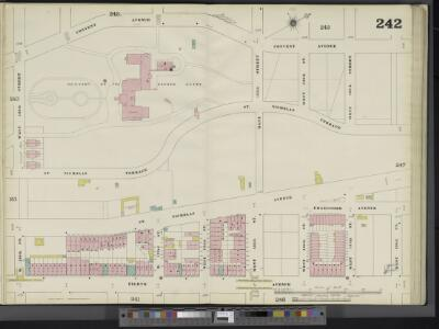 Manhattan, V. 11, Double Page Plate No. 242 [Map bounded by Convent Ave., W. 138th St., 8th Ave., W. 130th St.]