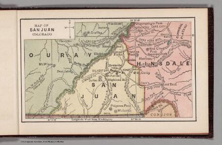 Map of San Juan, Colorado