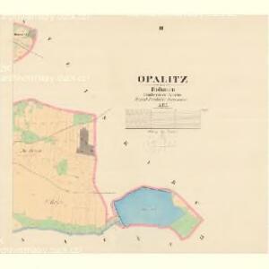 Opalitz - c5478-1-002 - Kaiserpflichtexemplar der Landkarten des stabilen Katasters