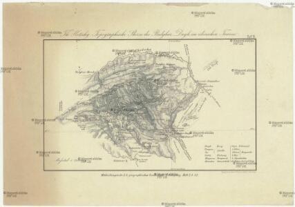 Topographische Skizze des Bulghar Dagh im cilicischen Taurus