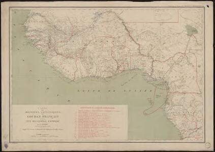 Carte des missions catholiques du Soudan français et de la côte occidentale d'Afrique