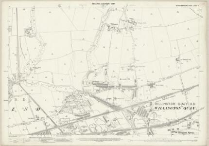 Northumberland (Old Series) LXXXIX.14 (includes: Tynemouth; Wallsend) - 25 Inch Map