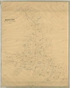 Hospodářská mapa polesí Čečín