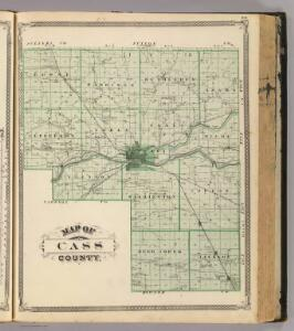 Map of Cass County.