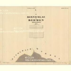 Bernschlag - c5898-3-001 - Kaiserpflichtexemplar der Landkarten des stabilen Katasters