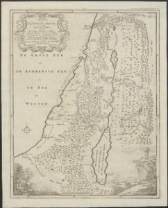 Afbeelding van 't land van Israël, naar deszelfs natuurlyke gesteltheid : waar in alle de zeën, rivieren en beeken, gelyk ook de bergen en dalen, de vlaktens, de woestynen, enz. dezes lands, die in de H.S. genoemt zyn, worden aangewezen