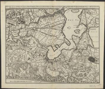 Nieuwe kaart van 't baljuwschap van Kennemerland met de bannen van Westsaanen, Assendelft, Heemskerk, Wyk aan Duyn, Velsen, Spaarwoude &c
