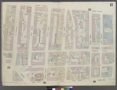 [Plate 11: Map bounded by Chatham Square, Division Street, Market Street, South Street, James Slip, James Street]