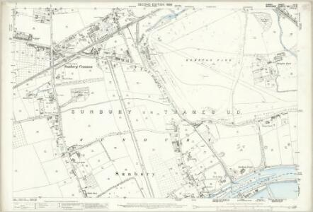 Surrey VI.13 (includes: Hanworth; Sunbury) - 25 Inch Map
