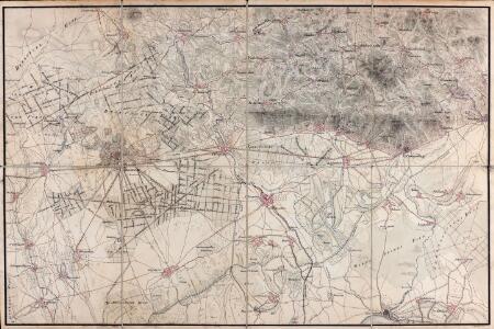 [Carte von Darmstadt und Umgebung]