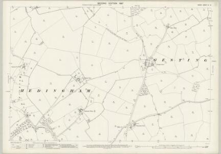 Essex (1st Ed/Rev 1862-96) XI.12 (includes: Castle Hedingham; Gestingthorpe) - 25 Inch Map