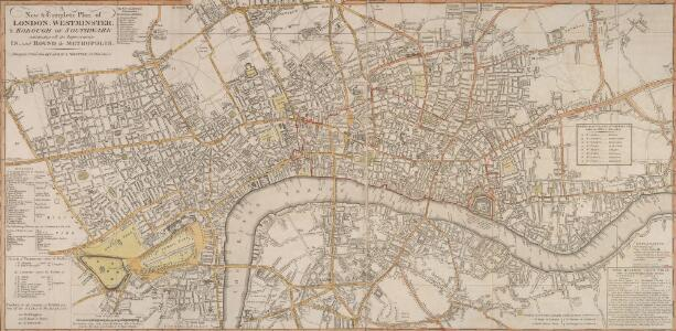 A New and Complete Plan of LONDON, WESTMINSTER & BOROUGH OF SOUTHWARK containing the Improvements IN, and ROUND the METROPOLIS