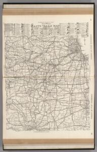AutoTrails Map, Illinois, Western Indiana, Southeast Iowa, Northeast Missouri.