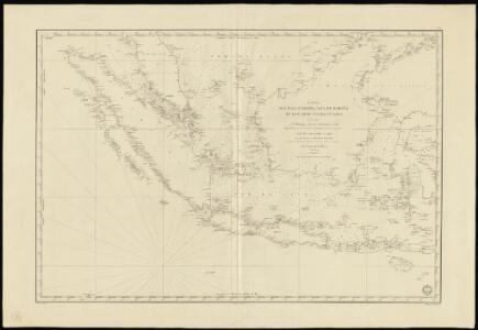 Carte des îles Sumatra, Java et Bornéo et des mers environnantes
