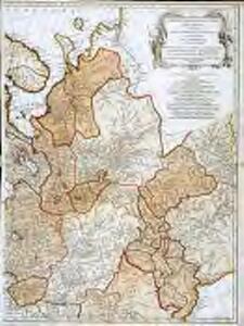 Seconde partie de la carte d'Europe contenant le Danemark et la Norwege, la Suède et la Russie (a l'exeption de l'Ukraine), 1