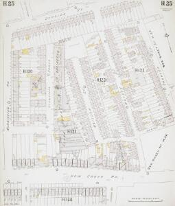 Insurance Plan of London East South-East District Vol. H: sheet 25