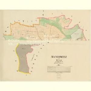 Maniowitz - c4473-1-001 - Kaiserpflichtexemplar der Landkarten des stabilen Katasters