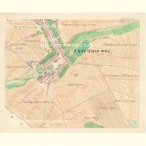 Unter Bojanowitz - m0481-1-009 - Kaiserpflichtexemplar der Landkarten des stabilen Katasters