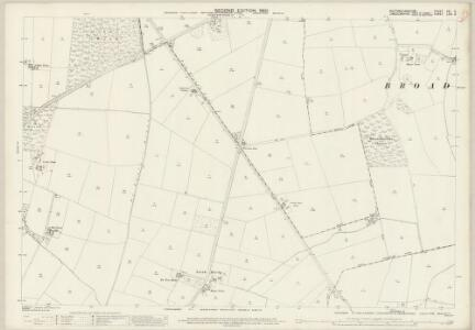 Nottinghamshire XXI.3 (includes: Broadholme; Doddington And Whisby; Harby; Saxilby With Ingleby; Thorney) - 25 Inch Map