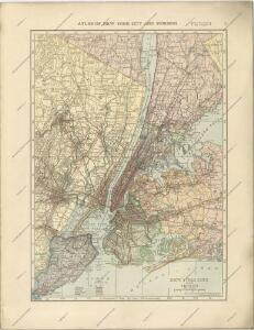 Hammods Atlas of New York City and the metropolitan district