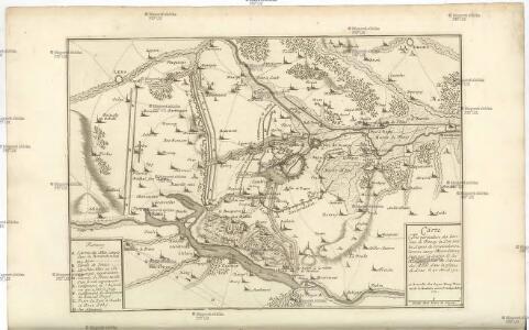 Carte Tres particuliere des Environs de Douay ou L'on voit les Lignes de Circonvalation, Comme aussy l'Innondation faite par la Scarpe