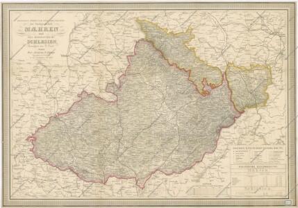 General - Post - und Strassenkarte der Markgrafschaft Maehren und Herzogthums Schlesien