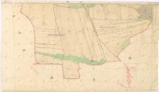 Katastrální mapa obce Pavlovice
