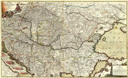 Neu und Accurat vefasste General Post Land-Karte des sehr grossen Welt berühmten Konig-Reichs Hungarn