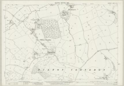 Somerset LIV.10 (includes: Batcombe; Evercreech; Lamyat; Milton Clevedon) - 25 Inch Map