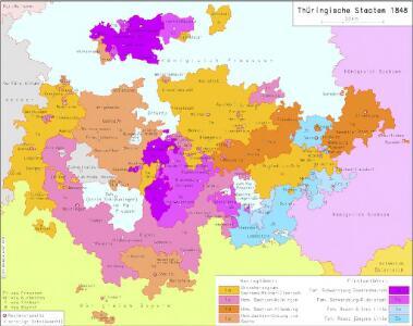 Thüringische Staaten 1848