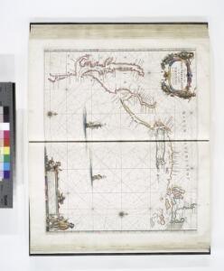 Pas caerte van Nieu Nederlandt en de Engelsche Virginies van Cabo Cod tot Cabo Canrick.