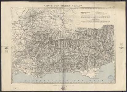 Karte der Sierra Nevada