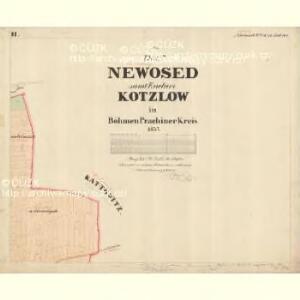 Kotzlow - c3234-1-002 - Kaiserpflichtexemplar der Landkarten des stabilen Katasters