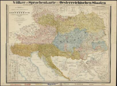General-, Post- und Eisenbahnkarte des Kaiserthumes Oesterreich und der nächsten Grenzlaender, mit Ergaenzungen der übrigen Staaten in Europa