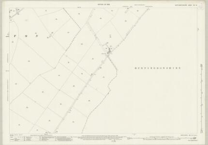 Northamptonshire XIX.16 (includes: Great Gidding; Hemington; Luddington) - 25 Inch Map