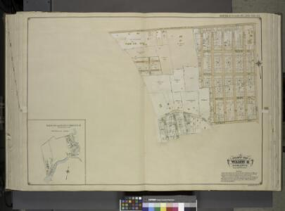 Queens, Vol. 1, Double Page Plate No. 23; Part of     Ward 4; Jamaica; [Map bounded by Rockaway Plank road, Three Mile Mill Road, Old  South Road; Including Smith St., Sidney St., Lewis St., Bank St., Bedford St.];  Sub Plan From Plate 17, Book 6, Pla