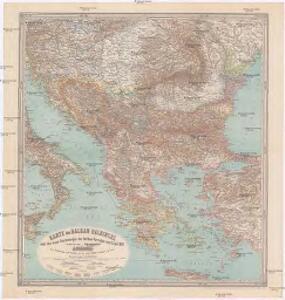 Karte der Balkan Halbinsel