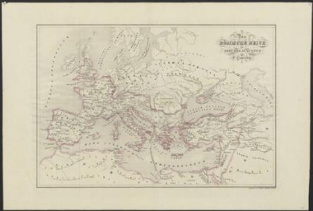 [Historisch-geographischer Atlas zu den allgemeinen Geschichtswerken von C. v. Rotteck, Pölitz u. Becker] : Das Römische Reich zur Zeit des Augustus